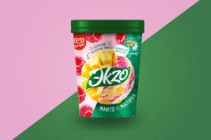 Мороженое Эkzo Манго-малина Ведро