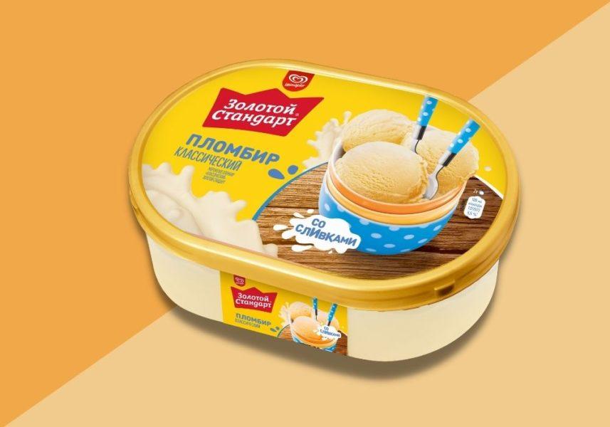Мороженое Золотой Стандарт Пломбир Классический Ванна