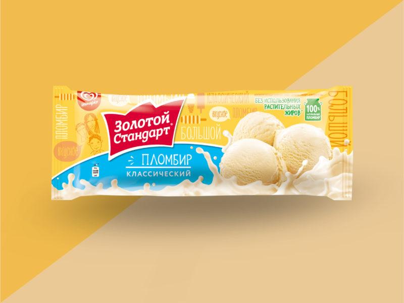 Мороженое Золотой Стандарт Классический пломир (2)
