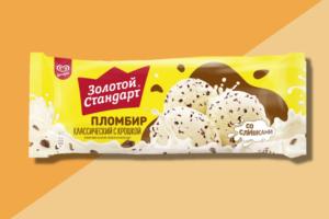 Мороженое Золотой Стандарт Пломбир Классический с Крошкой